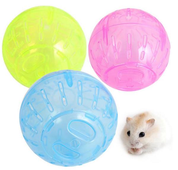 Souris de rongeur pour animaux Hamster Gerbille Rat Jogging Jouez Exercice Plastique Petite balle Jouet couleur aléatoire uniquement