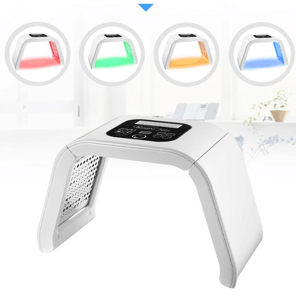 Fotón profesional rejuvenecimiento de la piel led pdt cuidado de la piel cara blanqueamiento facial spa terapia de luz máquina de belleza 4 colores de luz