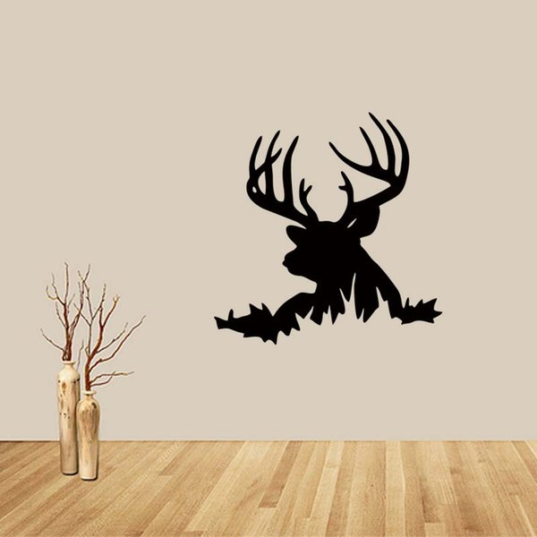 New Style For Deer Head Buck Hunting Removable Wall Stickers Vinyl Decal Home Decor Bedroom Sitting Room Diy