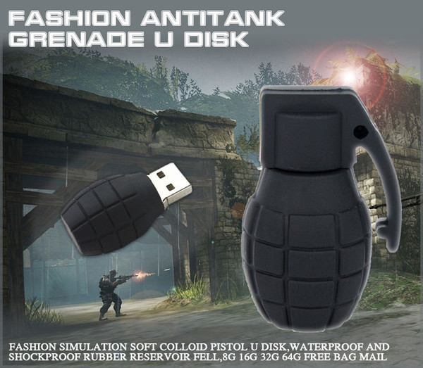 Bomb Hand Grenades model USB 2.0 Memory Stick Flash pen Drive 4GB 8GB 16GB 32GB 64GB 128gb 256gb 100% Brand New