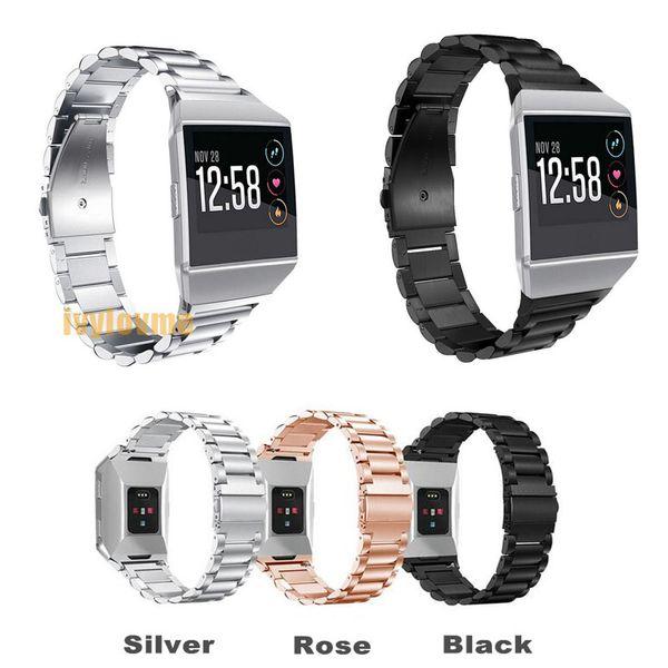 2018 Date Smart Accessoires pour Fitbit Ionique Bracelet En Acier Inoxydable Smart Watch Bande En Métal Bande De Rechange pour Fitbit Ionique