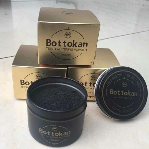 best selling 45g Bottokan Teeth Whitening Nature Bamboo Activated Charcoal Smile Powder Decontamination Tooth Yellow Stain Bamboo Toothpaste Oral Care