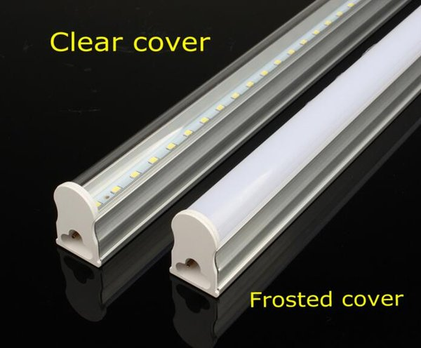 auf Lager T5 integrierte LED-Röhre Licht 1ft 2ft 12w 3ft 4ft 22w LedTUBES Leuchtstoffröhren Lampen warm Natur kühlen weißen AC85-265V Wandlampen