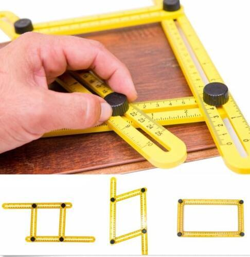 top popular ruler set hand tool Practical Four Folding Plastic Metric Scale Multifunctional Measuring tools Top Sale multi angle ruler 2019
