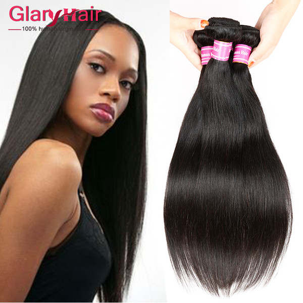 Top Quality Unprocessed Human Hair Extensions Straight Virgin Hair Wefts Cheap Brazilian Braiding Hair Weave Bundles Wholesale Products 5pcs