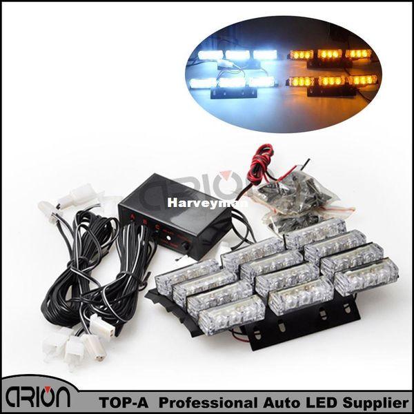 2016 Brand New 36 4x9 LED D'urgence Strobe Light véhicule police flash camion Pompiers stroboscopique Ambre Blanc barre lumineuse