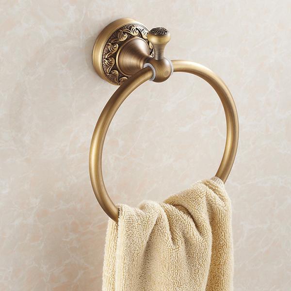2017 antique copper circular towel holder towel ring rack bathroom