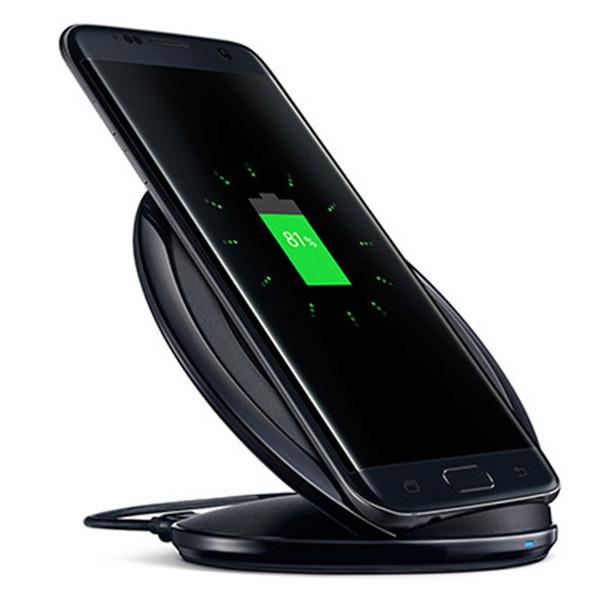 Nouveau chargeur de chargeur de chargeur sans fil vertical chargeur rapide Dock Pour Samsung Galaxy S6 Edge S7 Edge S8 plus Note 5