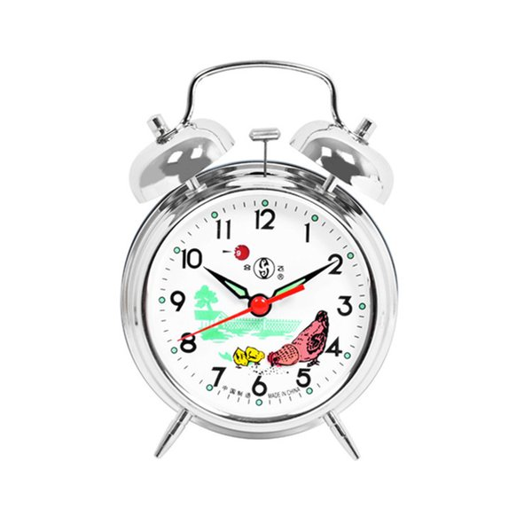 Hefei Ji Zhuomi wind bell mechanical alarm clock copper core 823823 Silver Pheasant peck rice
