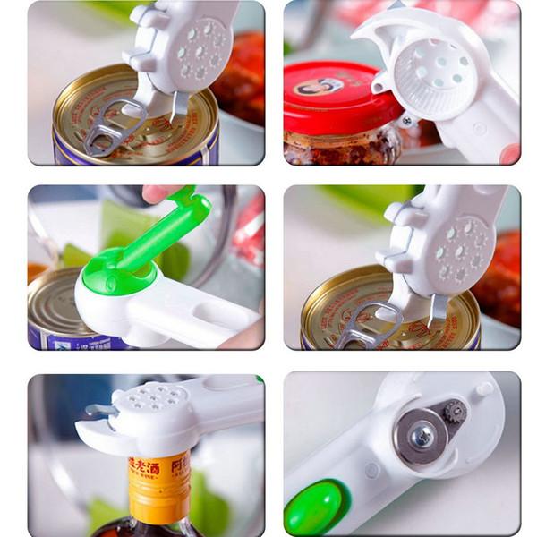 Multifuncional 7 en 1 Botella + Can + Jar Abridor de Soda de Vino de Cerveza Soda Abrelatas Cocina Cocinar Fácil Unbolt Herramientas Calidad Duradera