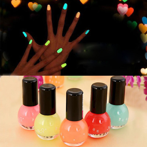 top popular 8ml 12 Colors Women Makeup Fluorescent Neon Luminous Gel Nail Polish Candy Color Nail Oil Varnish In Dark Wedding Party Gift ZA1667 2021