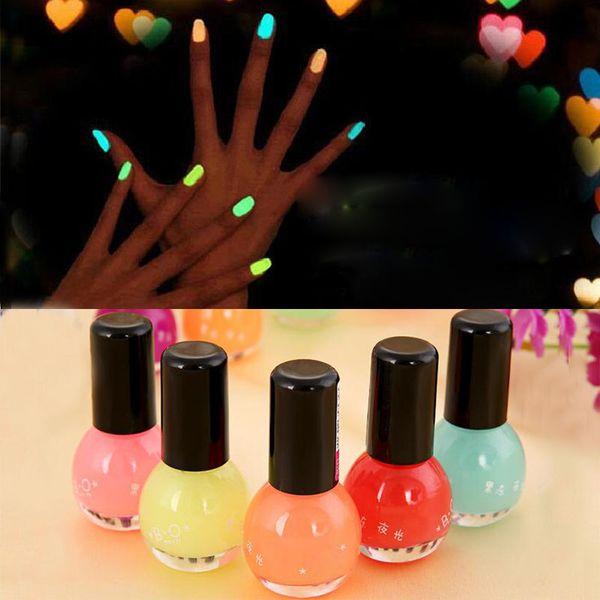 8 ml 12 colori donne trucco fluorescente al neon gel luminoso smalto per unghie colorante di caramelle olio per unghie nel buio regalo della festa nuziale zA1667