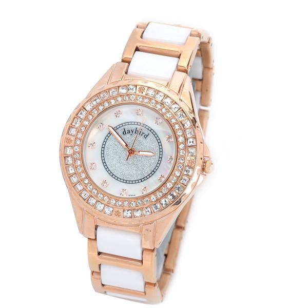 Daybird 3713 - Montre-bracelet à quartz avec bracelet en céramique et quartz pour femme - Doré (1 x LR626)