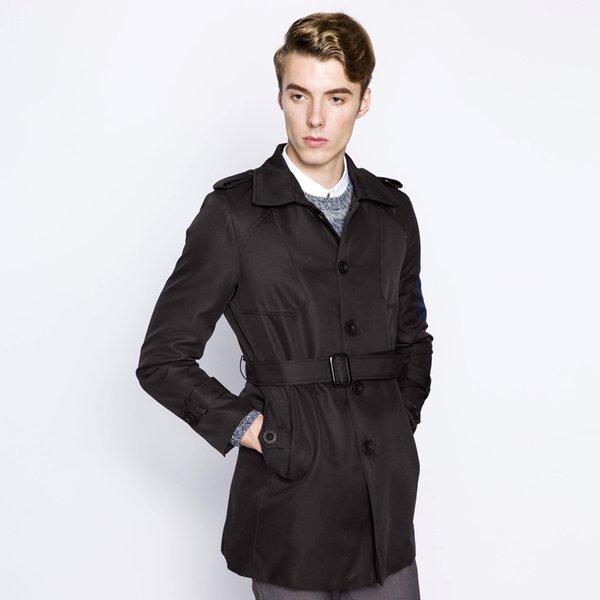 2019 bahar yeni Avrupa tarzı erkekler düğme moda geniş ceket ile bir deri giyiyor