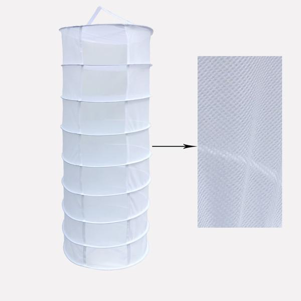 White 2-Feet 8-Layer White Hanging Drying Rack Dry Net for Hydroponics Mesh Hydroponic Drying Dry Rack Net