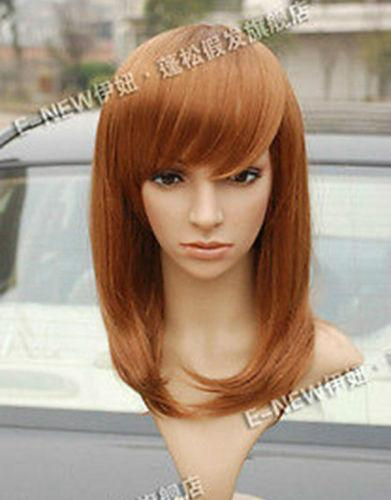 New Medium Brown Blonde Sexy Wigs Fashion Women's Hair Wig Free Shipping