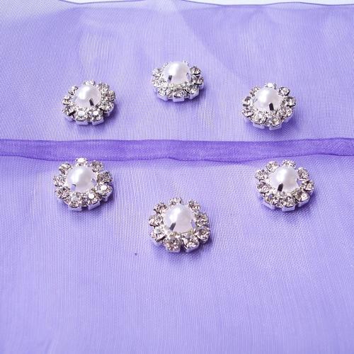 (L0019P) wholesale10 PC geben Verschiffen 12mm runde Rhinestoneverschönerung, halbe Perle in der Mitte, im Elfenbein oder in der reinen weißen Perle frei