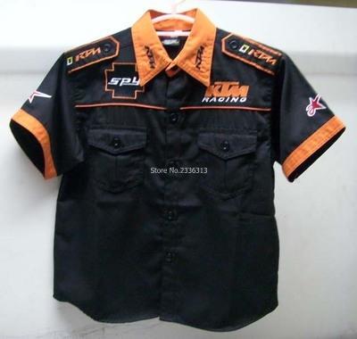 Atacado-Atacado de alta qualidade garoto camisas bordadas Classic Model Moto roupas de lazer menino F1 terno de corrida