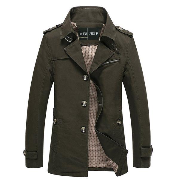 haute couture économiser jusqu'à 60% les mieux notés dernier Wholesale Autumn Winter Jacket Men'S Design Veste Homme Formal Suit Coats  Solid Cotton Brand Clothing M 5XL Trench Jackets For Men D0207 Denim Jacket  ...
