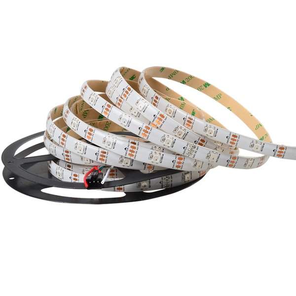 5M WS2812B 30LEDs/m Digital RGB LED Strip 5050 SMD Flexible Tape DC 5V Full Color Lamp Smart WS2811 Programmable Diy Pixel Light full color
