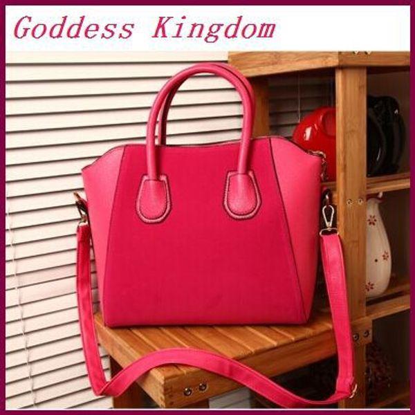 Wholesale- Women's Messenger Bag New Stylish Women Leather Handbag Dull Polish PU Leather Bags Fashion Shoulder Bags A7115