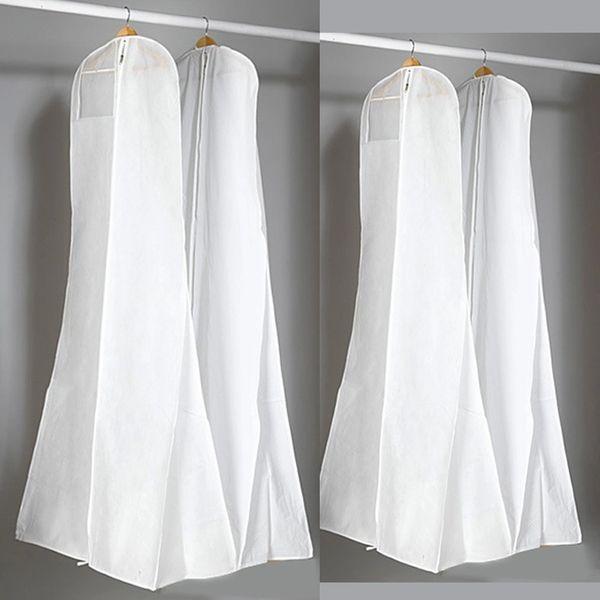 Sacchetto di polvere bianca non tessuta spessa per abito da sera abito da sera borse 180 * 70 * 25 cm coperchio di abbigliamento custodia da viaggio coperture antipolvere