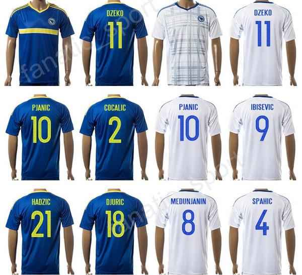 e7763eb2c Bosnia and Herzegovina Jersey 17 18 Soccer 9 Vedad Ibisevic Football Shirt  10 Miralem Pjanic 8