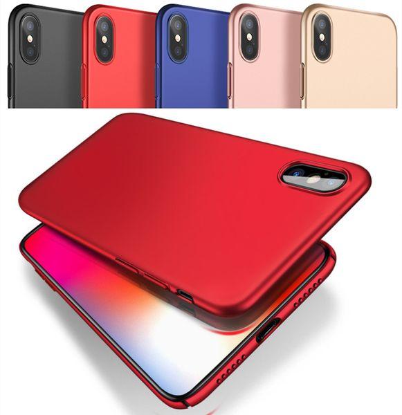 Para iphone xs max xr x 8 7 6 6 s plus case samsung s8 s9 s7 borda nota 8 9 magro matte pc case cobertura de proteção total