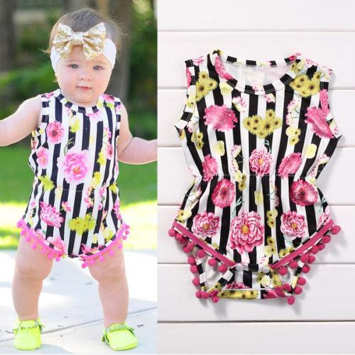 baby little girls boutique clothes Newborn roupas infantial Rompers sleeveless Jumpsuit ruffled Bodysuit Outfit kidswear Sunsuit