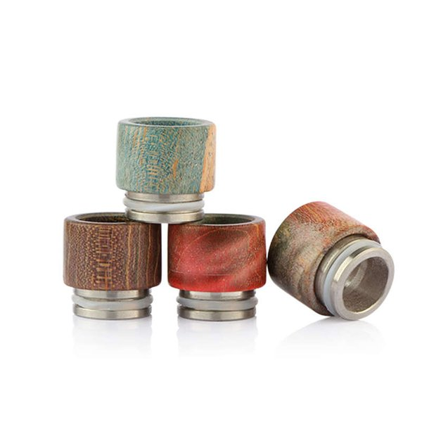 Atlantis Drip Tips Stable Wood Wide Bore Driptips E Cigs Stable Wood Material Mouthpiece For Atlantis V2 Tank Atomizers DHL Free Shipping