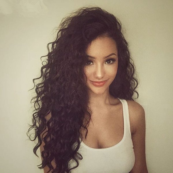Best Fashion Kinky Curly Full Lace Wig 8-26 Inch In Stock Peruvian Virgin Hair Glueless Lace Front Human Hair Wigs Cheap