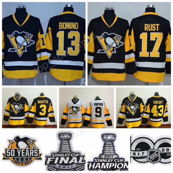 official photos 42df2 e0328 2019 Pittsburgh Penguins 3 Olli Maatta Jersey Hockey 2017 Stanley Cup Final  13 Nick Bonino 9 Pascal Dupuis 17 Bryan Rust 43 Conor Sheary Champion From  ...