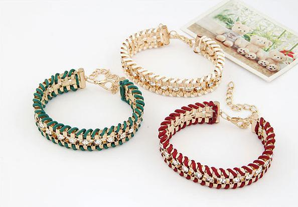 Pulsera de múltiples capas de la cadena del diamante del oro de los encantos de la manera para las mujeres a497