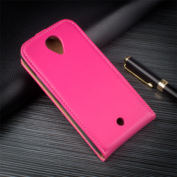 Smartphone Acessórios 2016 Novo Design Up e Down Vertical Flip Leather Case Capa do telefone para oppo neo 7