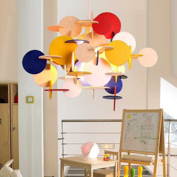 Modern LED Wooden Parquet Blocks Pendant Lamp Kid's Ceiling lamp Chandelier New Free Shipping