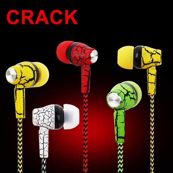 Reflective Cloth Line Earphone Headphone Crack Earbuds with Microphone Stereo Headset with Mic for Mobile Phone