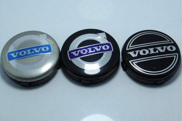 3 colores 20 unids 64 mm para volvo casquillos centrales de la rueda cubierta del emblema del coche insignia emblema negro / gris / AZUL C30 C70 S40 V50 S60 V60 S80 XC90