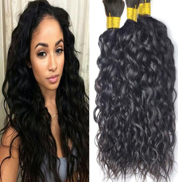 Bulk Оптовые бразильская волна воды человеческого плетения волос 3шта много 8 класс Бразильской волна воды человеческих волосы оплетки налив Нет вложений
