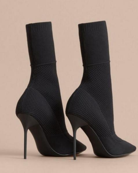Femmes Chaussure En 42 Hauts Mode Stretch Chaussures De 35 Bottines Chaussettes Acheter Bottes Confortable Taille Tissu Talons Tricot OXiPkuZ