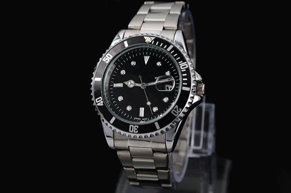 2016 otomatik tarih lüks moda erkekler ve kadınlar çelik kemer hareketi kuvars saat erkek saatler.