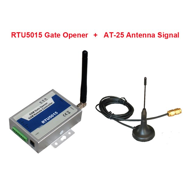 Wholesale-Wireless GSM switch 12V GSM gateway 2 Digital Input / 1 Relay Output remotely switch ON/OFF equipments by Free Call(RTU5015)