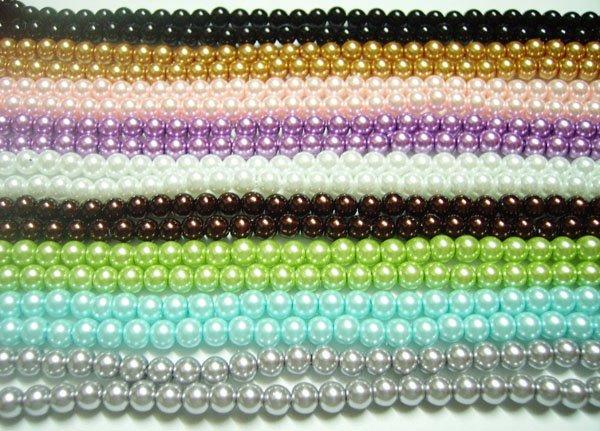 250pcs / lot lâche perles en verre pour les bijoux de bricolage artisanat 8mm mélanger les couleurs MP05 livraison gratuite