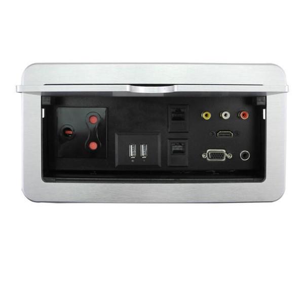 Customized RCA HDMI Internet VGA Audio Socket Lip Up Socket