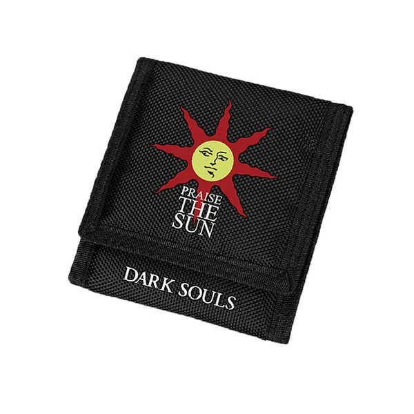Dark Souls Wallet ID Card Holder Best Wallets for Men with Zip Pocket