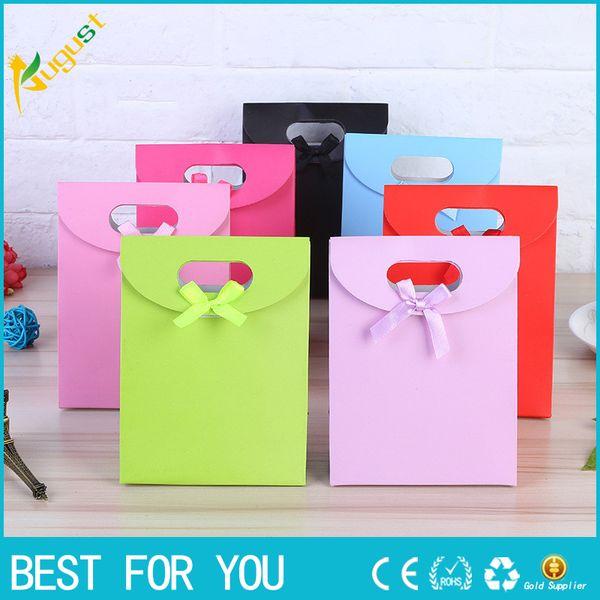 Un juego Pequeño + 2 Mediano + Tamaño grande Colorido Feliz Navidad Bolsa de papel Bolsas de regalo Cumpleaños Dulce Bolsa de regalo Boda Baby Shower Regalo