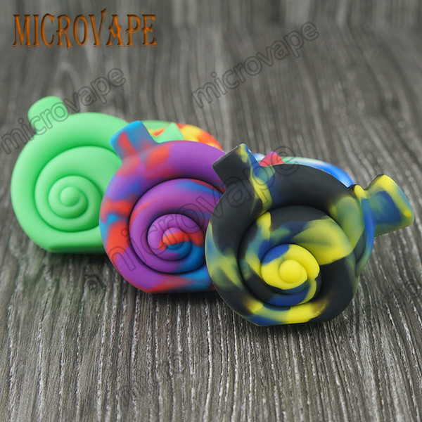 Eyc New design 10 colors snail shape mini silicone smoke bubbler dab rig water bongs and good quality by free DHL ship