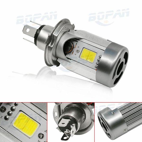 1 PCS Moto LED phare H4 salut lo 20W * 2 2000LM * 2 HS1 COB lampe frontale 6500K Blanc 2500K Standard Haute Basse DC12V Livraison Gratuite