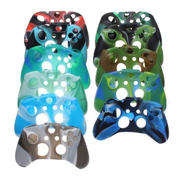 Для Xone Мягкий Силиконовый Гибкий Камуфляж Резиновая Кожа Чехол Для Xbox Один Тонкий Контроллер Ручка Крышка