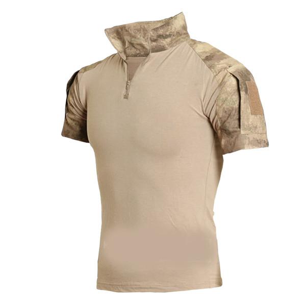 a9680bebd608 Tactical Clothing 2017 Men Camouflage T-shirt Men Cotton Army Tactical  Combat T Shirt Sport