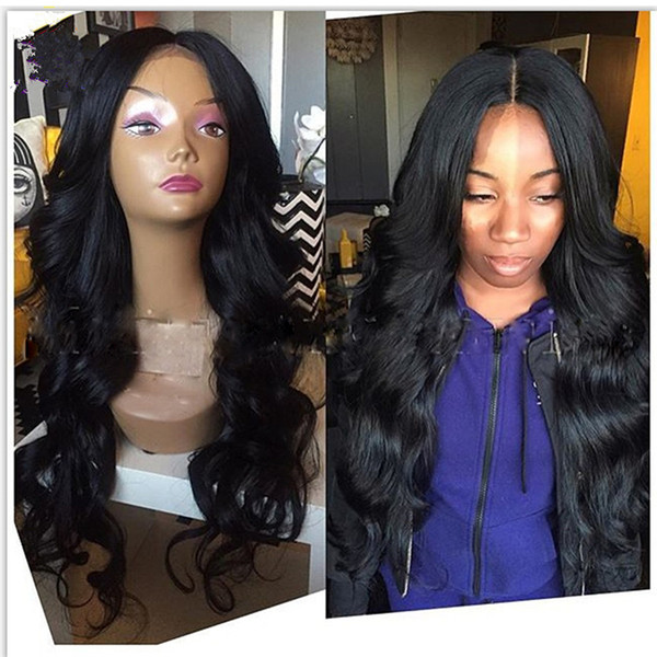 Malaysian Hair Full Lace Wigs Remy Human Hair Front Lace Wigs Body Wave 8A Grade Cheap Price Free Shipping
